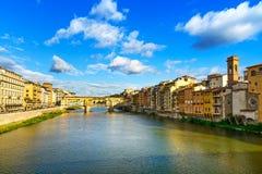 Ponte Vecchio, stary most, Florencja. Włochy Zdjęcie Stock