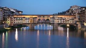 Ponte Vecchio stenbro i Florence, Italien arkivfilmer