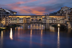 Ponte Vecchio stone bridge in Florence, Italy Royalty Free Stock Photography