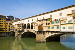 Ponte vecchio on sunny day Royalty Free Stock Images