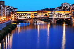 Ponte Vecchio at sunset, Florence Royalty Free Stock Photo