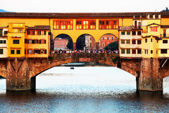 Ponte Vecchio at sunset, Florence Stock Photography
