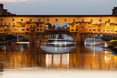 Ponte Vecchio at sunset, Florence, Italy Royalty Free Stock Photo