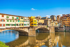 Ponte Vecchio at sunset in Florence, Italy royalty free stock image