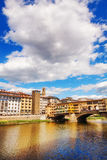 Ponte Vecchio and the surrounding architecture in Florence Stock Image