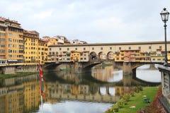 Ponte Vecchio van Florence stock afbeeldingen