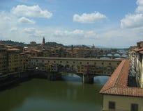 Ponte vecchio and vasari corridor, Florence, Italy Stock Images