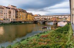 Ponte Vecchio. View of the Ponte Vecchio Old Bridge in Florence Italy Stock Photo