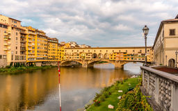 Ponte Vecchio. View of the Ponte Vecchio Old Bridge in Florence Italy Royalty Free Stock Image