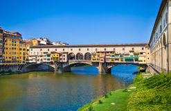 Ponte Vecchio view over Arno  river in Florence Stock Photo