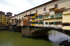 Ponte Veccio in Florence. A photo of the Ponte Vecchio in Florence royalty free stock image