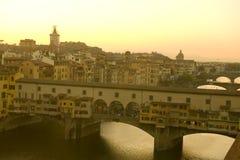 Ponte vechio bridge in florence Stock Photo