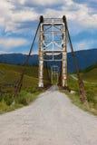 Ponte velha através do rio Katun Rússia fotos de stock royalty free