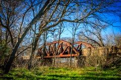 Ponte velha da estrada de ferro, Grainger Texas Fotos de Stock Royalty Free