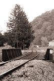 Ponte velha da estrada de trilho. Pensilvânia. B&W Imagens de Stock Royalty Free