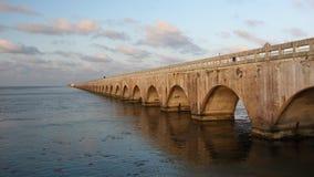 Ponte velha de sete milhas em chaves de Florida Fotografia de Stock