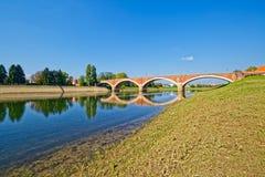 Ponte velha de Sisak Imagens de Stock