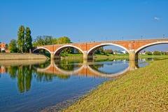 Ponte velha de Sisak Fotos de Stock Royalty Free