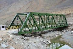 Ponte velha do ferro Fotografia de Stock