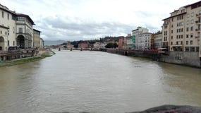 Ponte velha em Florença em um dia nevoento Imagem de Stock Royalty Free