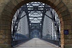 Ponte velha em Hamburgo fotografia de stock royalty free