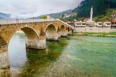 A ponte velha em Konjic Imagens de Stock