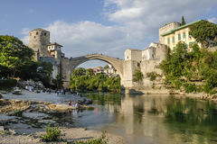 A ponte velha em Mostar, em Bósnia e em Herzegovina Fotografia de Stock
