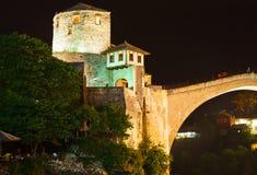 Ponte velha em Mostar - em Bósnia e em Herzegovina Imagem de Stock Royalty Free