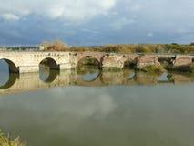 Ponte velha em Talavera de la Reina, Espanha Imagem de Stock
