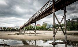 Ponte velha na ilha de Santa Cruz, Oleiros, Rias Altas, um Coruna, Imagem de Stock Royalty Free