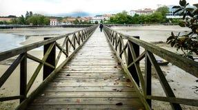 Ponte velha na ilha de Santa Cruz, Oleiros, Rias Altas, um Coruna, Fotografia de Stock Royalty Free