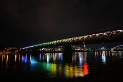 Ponte velha nova Foto de Stock Royalty Free