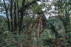 Ponte velha san Michele no adda bergamo do paderno imagens de stock royalty free