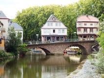 A ponte velha sobre o Nahe Fotografia de Stock