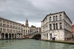 Ponte Veneza de Rialto Foto de Stock Royalty Free