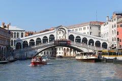 Ponte Venezia di Rialto Immagine Stock