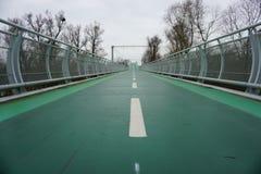 Ponte verde da bicicleta Imagens de Stock