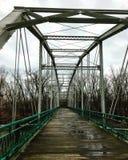 Ponte verde e branca Fotos de Stock Royalty Free