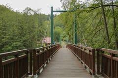 Ponte verde e de madeira imagem de stock