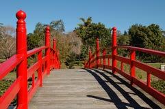 A ponte vermelha Fotografia de Stock