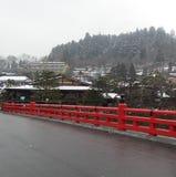 Ponte vermelha Fotografia de Stock Royalty Free