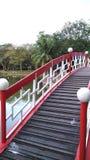 Ponte vermelha imagem de stock