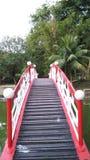 Ponte vermelha da curva fotos de stock royalty free