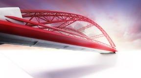Ponte vermelha da estrada da vista inferior Fotos de Stock