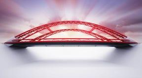Ponte vermelha da estrada da vista lateral Imagem de Stock Royalty Free