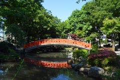 Ponte vermelha japonesa Fotografia de Stock