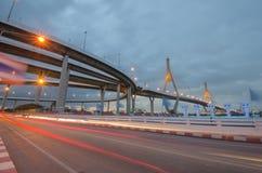 Ponte, via expressa, estrada, luz, Fotografia de Stock Royalty Free