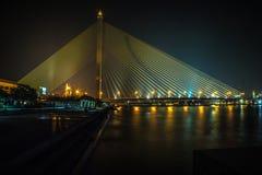 Ponte VIII Banguecoque Tailândia de Rama fotografia de stock