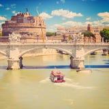Ponte Vittorio Emanuele ΙΙ και Castel Sant'Angelo Στοκ εικόνα με δικαίωμα ελεύθερης χρήσης