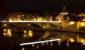Ponte Vittorio Emanuele II imagem de stock
